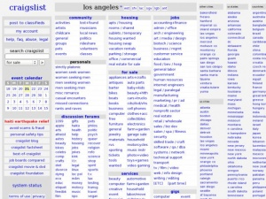 Craigslist.org Los Angeles